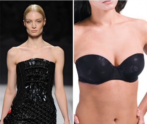 时尚首选:无肩带文胸