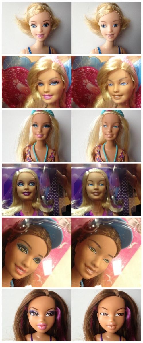 """""""素颜风""""来袭 芭比娃娃也被卸妆"""